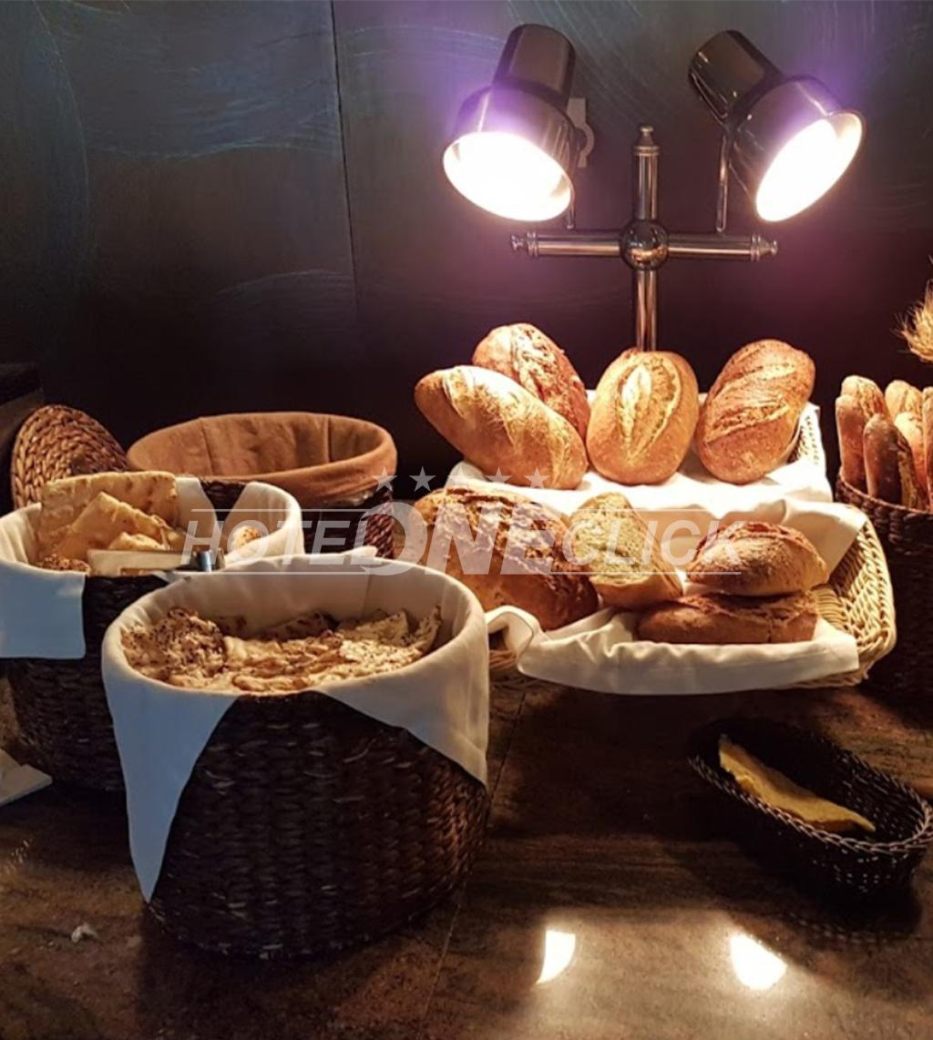 Wide variety of breakfast breads in Espinas Palace Hotel Tehran